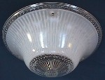 Antique Art Deco 3 Chain Dish Shades