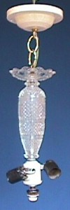 Antique Art Deco Center Post Light Fixture 008