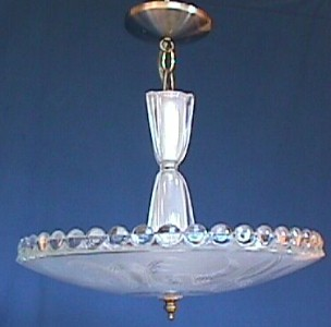 Antique Art Deco Center Post Light Fixture 002