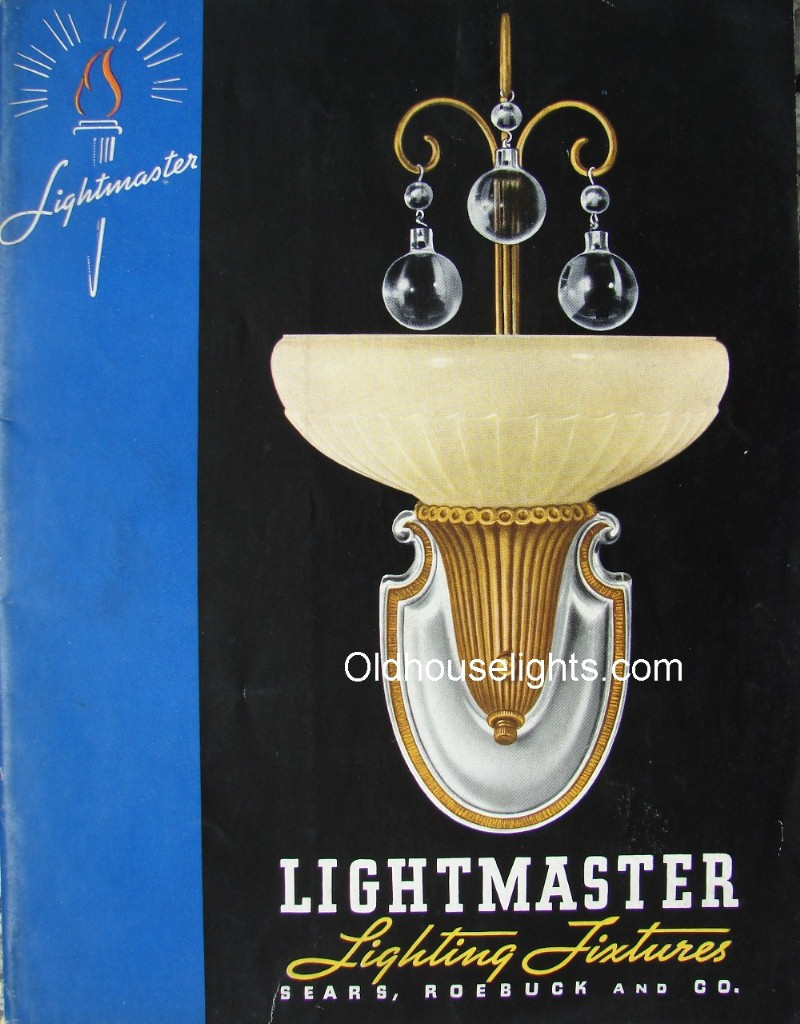 1937 Sears Antique Lighting Catalog frame