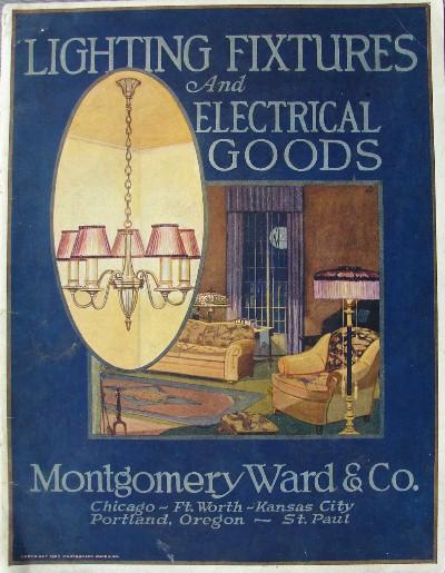 & 1923 Montgomery Ward u0026 Co. Antique Lighting Catalog frame azcodes.com