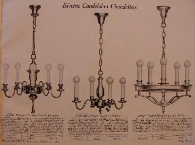 1920 sears antique lighting catalog frame - Antique Lighting Chandeliers. Retrospective 111v 240v Loft