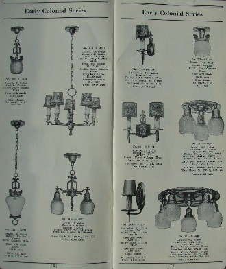 1920 s general electric lighting catatlog frame