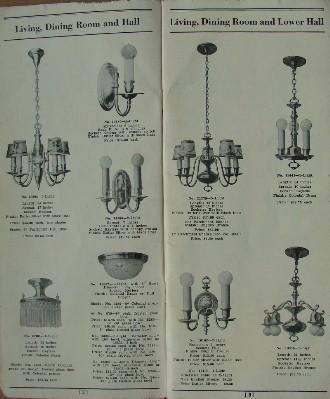 1920 S General Electric Lighting Catatlog Frame