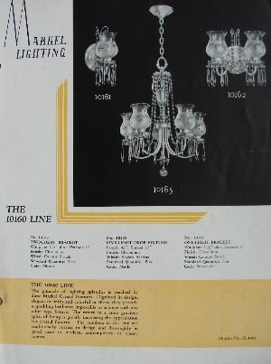 1930 S Markel Antique Lighting Catalog Frame